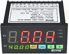 Festnight Medidor de sensor de pantalla LED digital multifuncional con salida de alarma de 2 relés y entrada de 0~10V / 4~20mA / 0~75mV