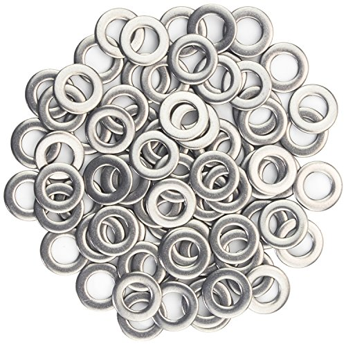 Sutemribor 1/4 Inch Flat Washer, 304 Stainless Steel Flat Washer, 100 Pieces (5/8 Inch Outside Diameter)