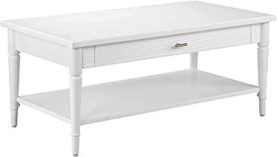 "Amazon Brand – Ravenna Home Classic Coffee Table, 42""W, White"