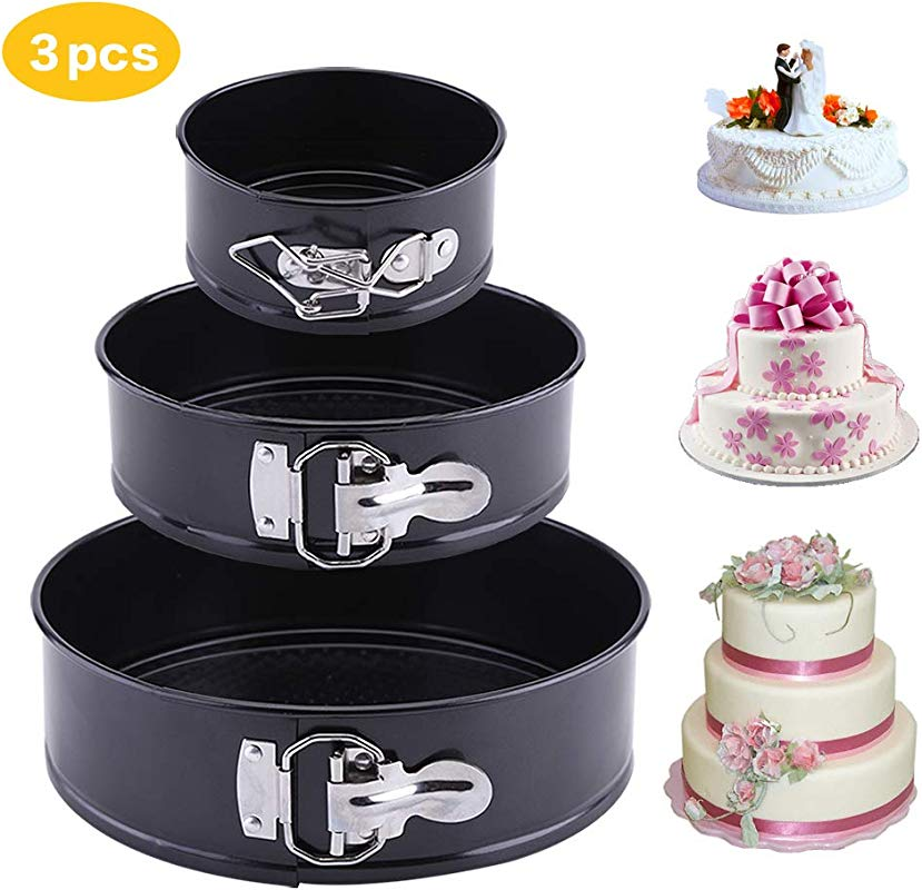 Springform Cake Pan 3 Pieces Set Latauar 4 Inch 7 Inch 9 Inch Non Stick Cheesecake Pan Leakproof Round Cake Pan With Removable Bottom Cake Pan