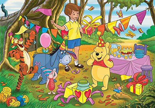 Clementoni 24201 Maxi Puzzle 24 Teile Supercolor-Disney Winnie Puuh, für Kinder ab 3 Jahren, Mehrfarbig