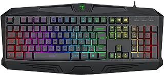 Teclado Gamer Membrana T-Dagger Tanker Preto ABNT2 RGB T-TGK202