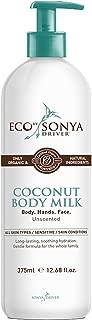 Eco Tan - Organic Coconut Body Milk (Tan Extending, 12.68 fl oz / 375 ml)
