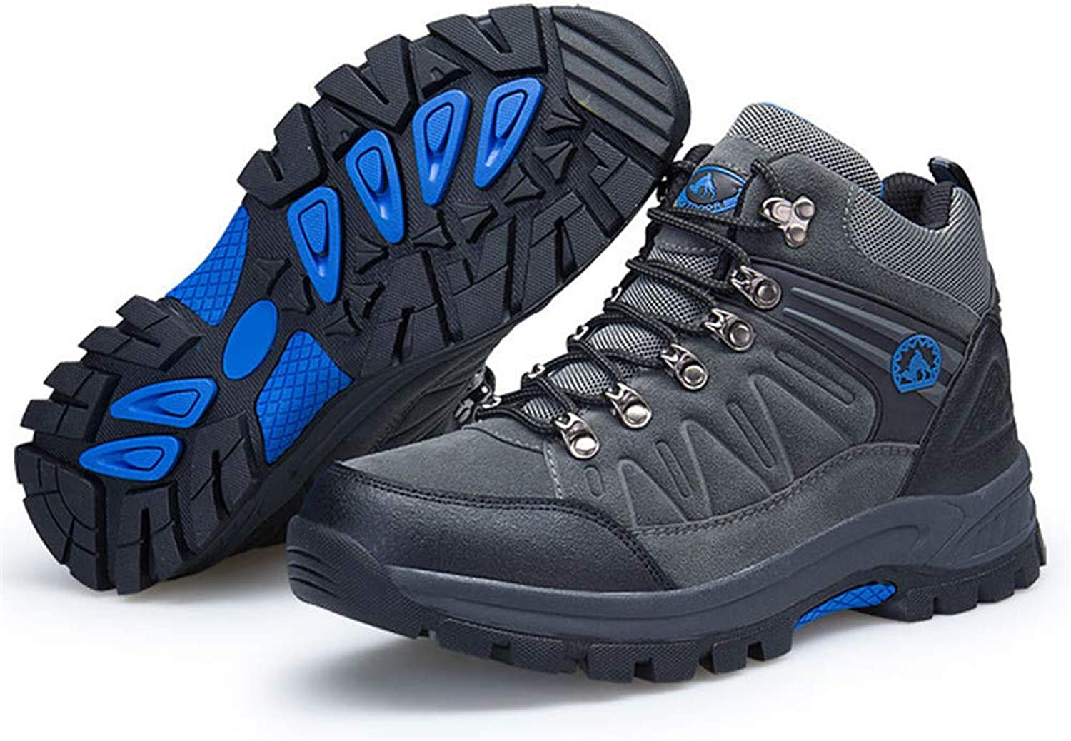 TMSE Outdoor Hiking shoes Men Help, Autumn and Winter Black