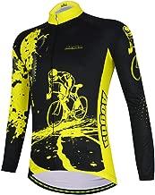 YIDUN Men's Bicycle Jersey Thermal Fleece Long Sleeve Reflective