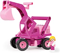 Lena Eco Active Princess Pink Toy Excavator Truck is a Eco Friendly BPA and Phthalates Free Biodegradable Green Toy Manufactured from Food Grade Resin and Wood