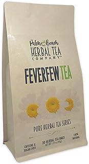 Feverfew Tea - Pure Herbal Tea Series by Palm Beach Herbal Tea Company (30 Tea Bags) 100% Natural