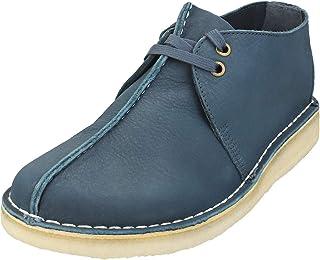 Clarks Originals Desert Trek Mens Dress Shoes 42 EU Blue Nubuck