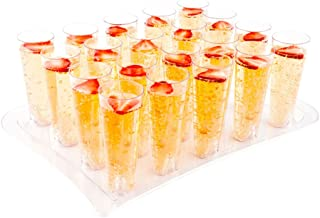 Restaurantware RWP0096C Plastic Shot Glasses, Cocktail Glasses - 4.5 oz - Premium Plastic - Clear - 100ct Box