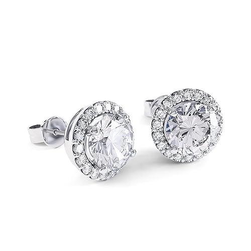 88b1eeb069bd 2ct Stardust Diamond Halo Stud Earrings