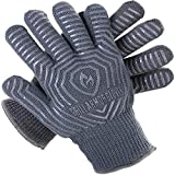 Grill Armor Extreme Heat Resistant Oven Gloves - EN407 Certified 500C - Cooking Gloves for BBQ,...