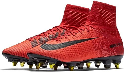 Nike Mercurial Superfly V Dynamic Fit SG-Pro Anti-Clog Suelo Blando Adulto 44 Bota de fútbol - Stiefel de fútbol (Suelo Blando, Adulto, Masculino, Suela de Tacos Intercambiables, schwarz, rot, Monótono)