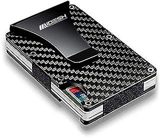 MAIDESH Carbon Fiber Wallet, Metal Money Clip Wallet, RFID Blocking Minimalist Wallet