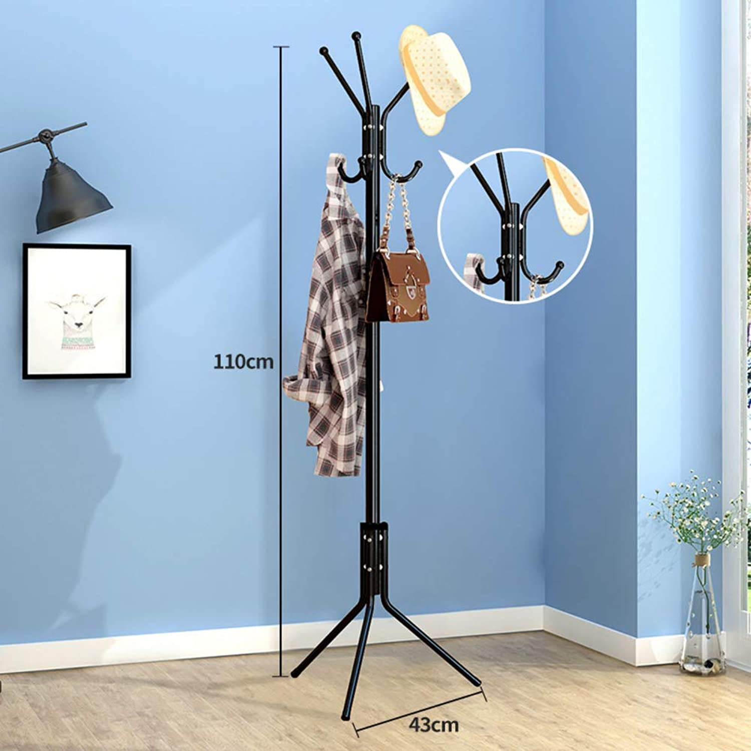 Metal Hat Coat Rack,Coat Tree Entryway Standing,Perfect Touch for Your entryway Mudroom Kitchen Bathroom More-F 43x110cm(17x43inch)