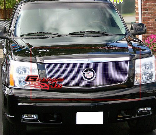 APS Compatible with 2002-2006 Cadillac Escalade EXT ESV Logo Show Upper Vertical Billet Grille A65770V