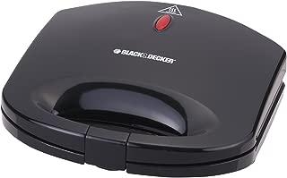 Black+Decker 600W 2 Slice Non-Stick Sandwich Maker, Black - TS1000-B5