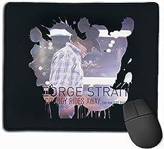 Iuqyzqzaza George Strait Mouse Pad Paris Picture Laptop Pad Non-Slip Rubber Stitched Edges 11.8 X 9.8 Inch