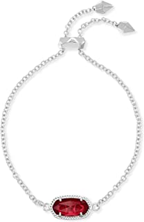 Kendra Scott Elaina Chain Bracelet in Berry Clear and Rhodium Plated
