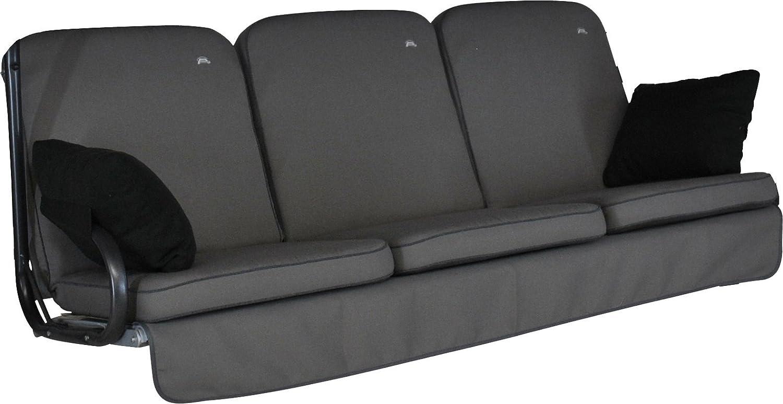 Angerer 4785 136 Primero Style Schaukelauflage Style, Grau, 3-Sitzer (ohne Schaukel)