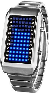 Men's and Women's Led Electronic Watch,30m Waterproof Calendar Month Metal Watch Personalize Couple Watch Student Men's-B