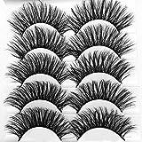 ICYCHEER Mixed 3D Mink Hair False Eyelashes Set Long Thick Wispy Messy Fake Eyelash Mink Lashes Soft Handmade (053)