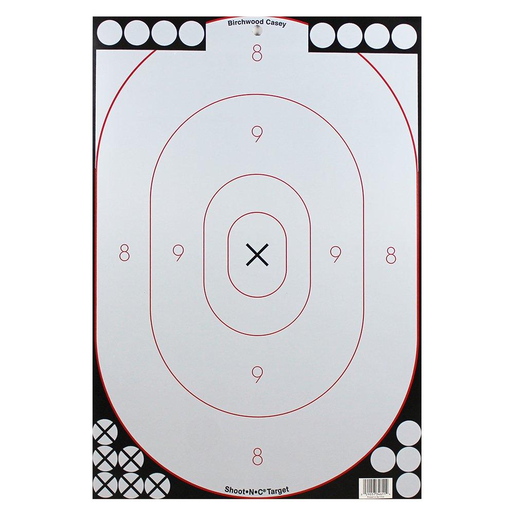 Birchwood Casey ShootNC Bad Guy 12x18in Silhoete 12tgts for sale online