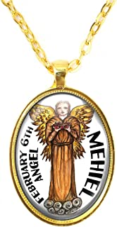 My Altar Guardian Birthday Angel Mehiel February 5 6 7 8 9 Huge Pendant
