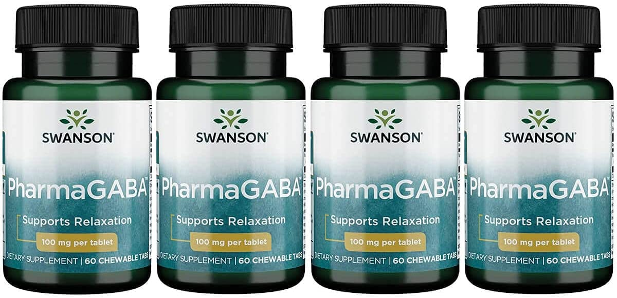 Swanson Amino Acid Pharmagaba 100 New product! New type Pack 60 4 Chwbls Milligrams Free Shipping New