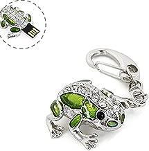 Crystal Cute and Novelty Frog Shape Animal Pen Drive 16GB USB 2.0 Flash Drive U Disk Thumb Drive Memory Stick Data Storage Jump Drive with Key Chain (Crystal Frog-16GB)