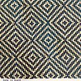 Kt KILOtela Tela por Metros de loneta Estampada Digital - Half panamá 100% algodón - Ancho 280 cm - Largo a elección de 50 en 50 cm | Geométrico - Rombos. Azul, Beige