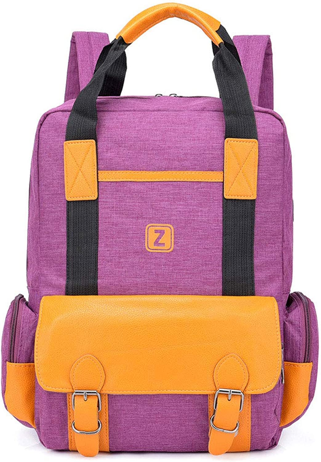 Backpack Female Sports Outdoor Fashion USB Charging Backpack Male Oxford Cloth Waterproof Bag Tide Student Couple Bag,Purple