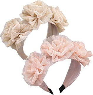 GUNIANG Wide Headbands Knot Turban Headband Hair Band Elastic Large Knotted Rose Flower Hair Accessories for Women Girls