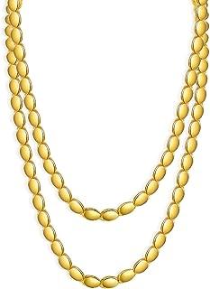 قلادة بسلسلة للرجال مطلية بالذهب 18 قيراط من المجوهرات اليدوية لإكسسوارات إثيوبية/عربية/دبي