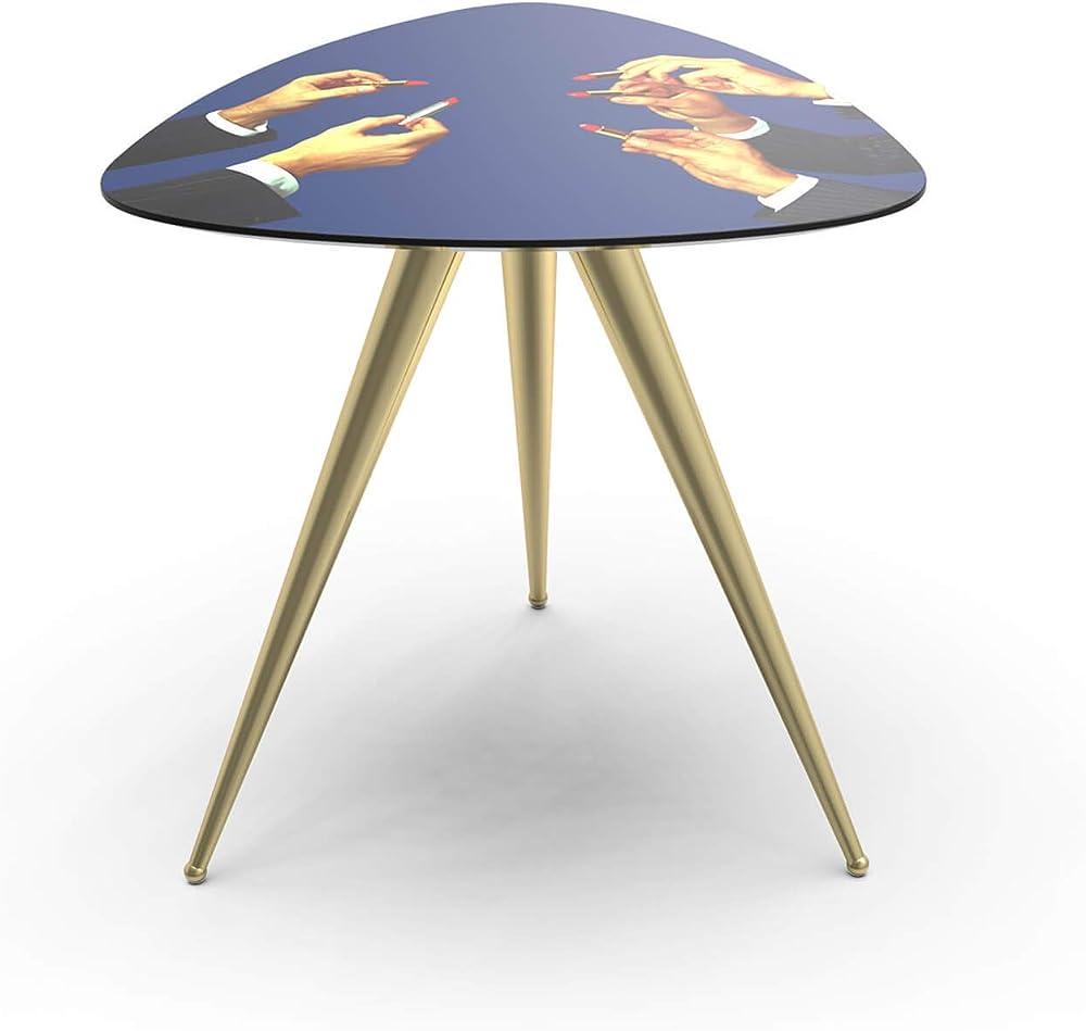 seletti toiletpaper side table lipsticks, tavolino, piano in mdf laccato lucido - gambe in metallo verniciato 17183