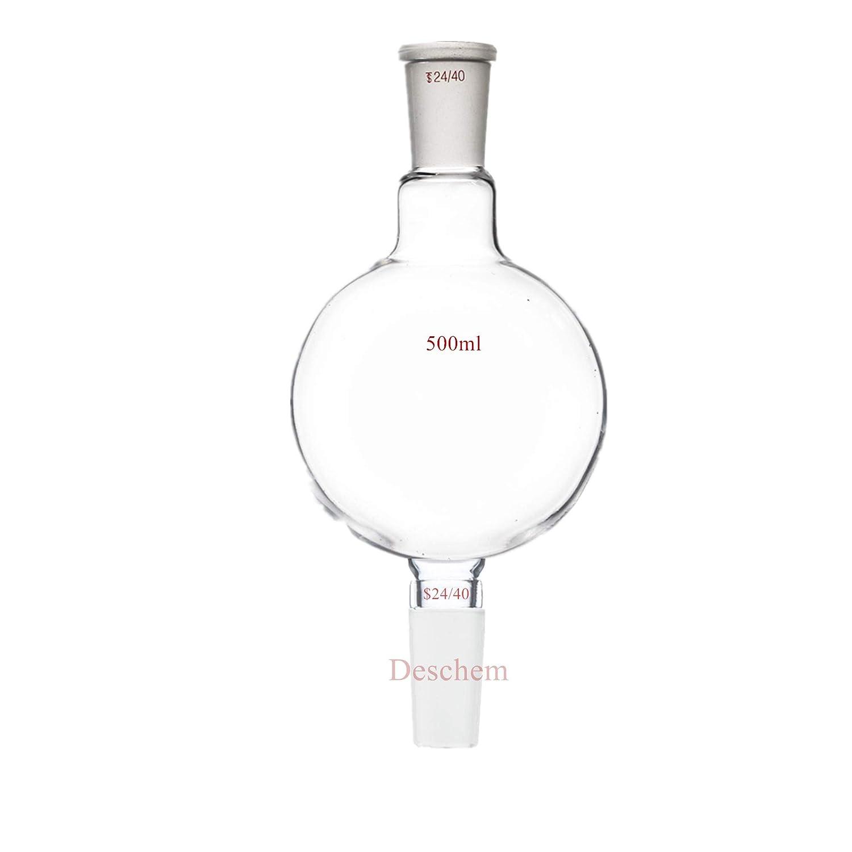 Deschem 500ml 24 40 Chromatography Louisville-Jefferson County Mall Distillat Flask Reservoir Lab Safety and trust