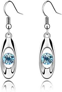 Iumer Fashion Crystal Drop Earring Oval Dangle Earrings