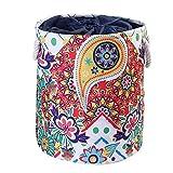 LCM EVA Canvas Tela Redondo Cesta de lavandería Ropa Sucia Organizador Juguetes Caja de Almacenamiento Bols Bucket Hillper con Asas (Color : G254545)