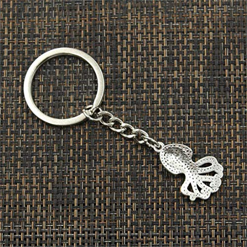 TIANDI Keychain 28X18Mm Ocean Octopus Silver Color Pendants Diy Men Car Key Chain Ring Holder Souvenir For Gift