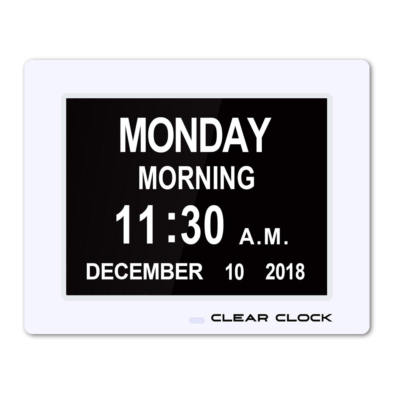 Clear Clock Calendar Optional Impaired