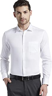 Knighthood by FBB Men Slim Fit Semi Cut Away Collared Shirt-White-40