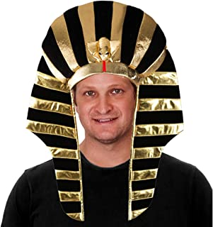 Tigerdoe Pharaoh Hat - Egyptian Headpiece - King TUT Costume - King Pharaoh Costume