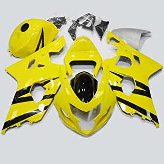 ABS Injection Molding - Yellow Black Fairing Kit for 2004 2005 Suzuki GSX-R 600/750 K4