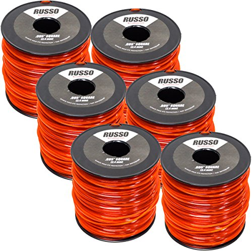6 Pack 095 Square 5lb Commercial String Trimmer Line for Echo Stihl RedMax