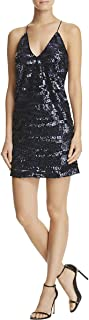 Womens Sequined Party Mini Dress
