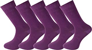 Mysocks 5 Pairs Purple Socks made from the finest combed cotton
