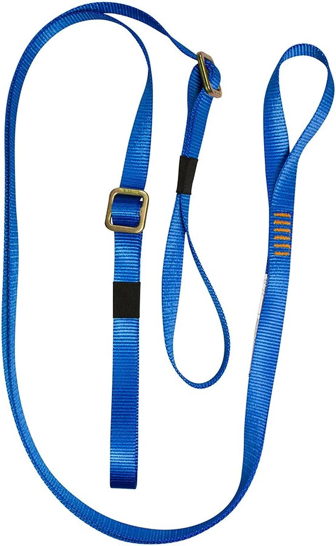 Fusion Climb 6ft 72 x1  YLegged Adjustable Fall Safety Zipline Lanyard with Open Loops 23kN bluee