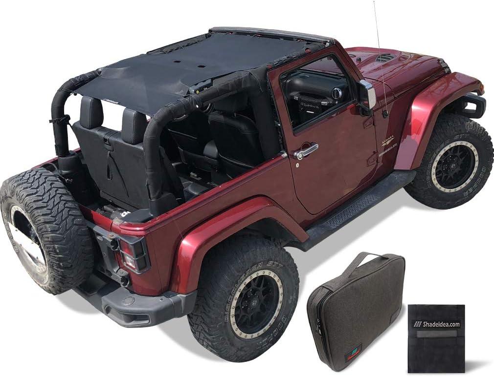 Shadeidea Many Sale special price popular brands Sun Shade for Jeep Wrangler JK Fron Door 2 2007-2018