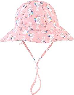 Baby Sun Hat Toddler Kids Sun Protection Hat UPF 50+ Wide Brim Summer Beach Hat