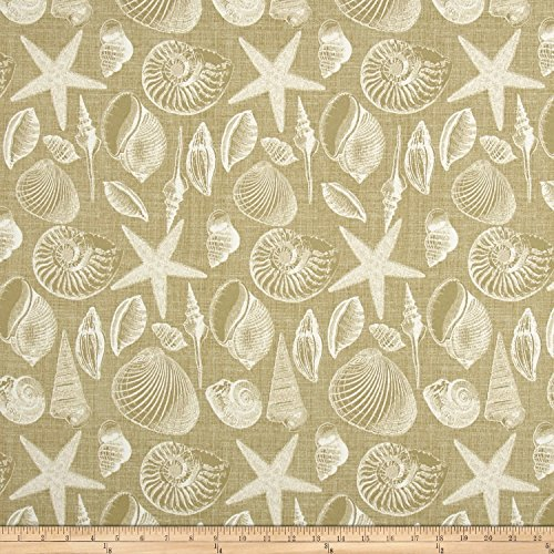 BRYANT INDUSTRIES Indoor/Outdoor Shoreline Fabric by The Yard, Sand