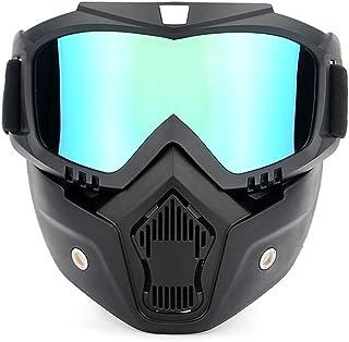 b8b8a7ab65 Lixada Motocicleta Casco Máscara protectora Gafas Desmontable Motos Gafas  Protección Gafas de Montar Patinaje Gafas Deportivas
